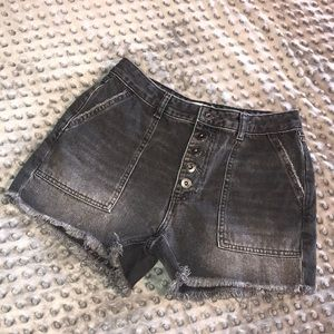 Free People Denim Shorts Button Front 27